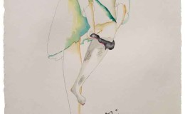 Georg-Heider,-'Wow',-watercolour-&-pencil-on-paper,-49-x-69cm