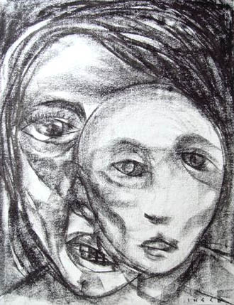 Gerrado Ingco, crayon on paper, 43 x 56cm