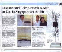 Lascano and Goh: A match in Zen in Singapore Art Exhibit