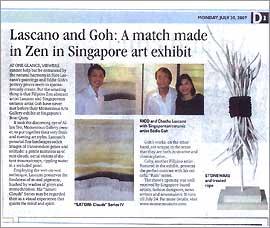 Lascano and Goh: A match in Zen in Singapore Art Exhibit