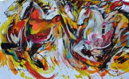 Lim-Ah-Cheng-Challenging-horses-3-40-x-28cm-mixed-media-on-paper-2013-2