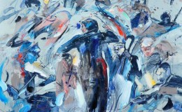 Lim-Ah-Cheng,-Symphony-Orchestra-1-.oil-on-canvas,-91.5-x–91