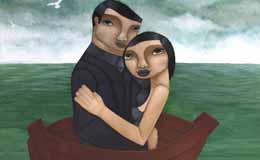 Liz-McKay-'A-heart-bigger-than-the-Ocean,'-acrylic-on-canvas,-100-x-100cm
