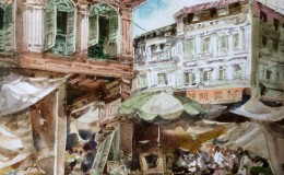 Poh-Siew-Wah-Chinatown-watercolour-on-paper-32-x-32cm-2250-1