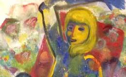 Takuma-Tanaka,-'Nude-on-red-chair'-oil-on-canvas,-117-×-91cm