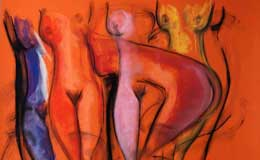 Rene-Robles-Nude-Composition,-pastel-on-paper,–19-x-25inches