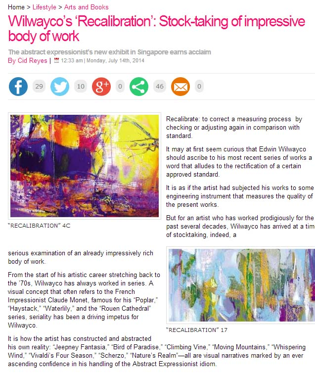 Stock-taking of Impressive Body of Works - Philippine Daily Inquirer