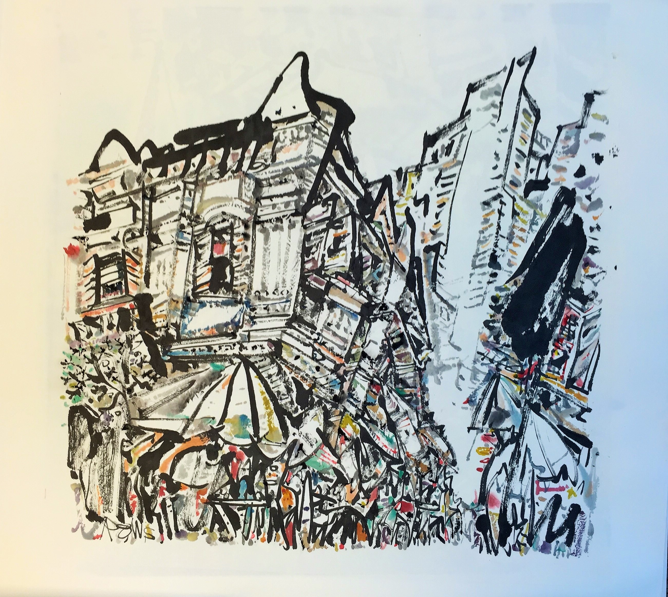 Poh Siew Wah, Telok Ayer, Ink   Colour On Rice Paper, 69 X 70cm, $2,400