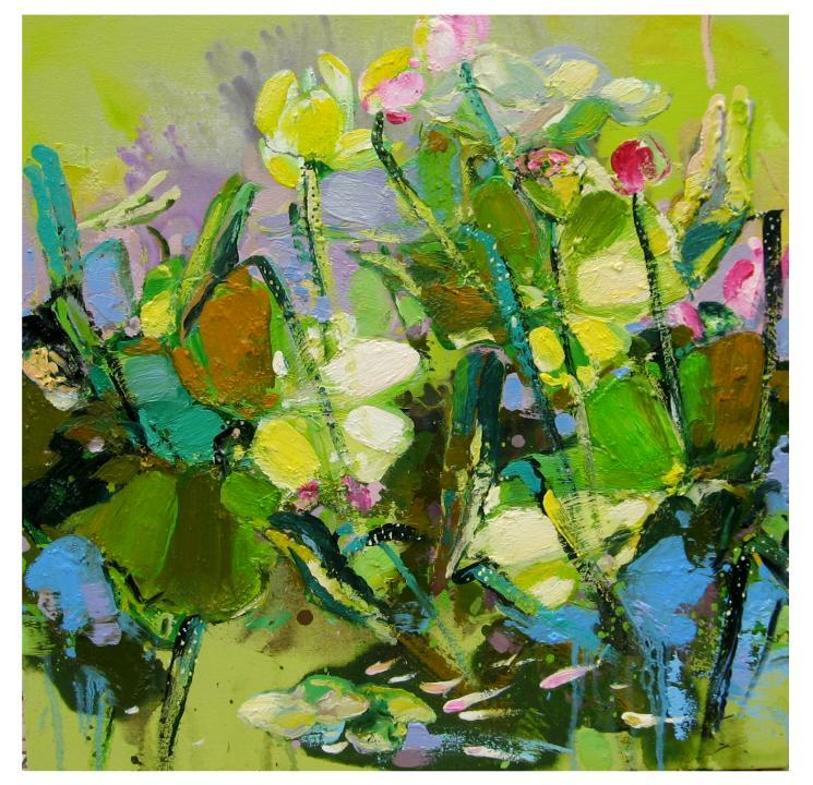 Soon Lai Wai, Harmony In Spring 48, Oil On Canvas, 61x 61cm, $1,800
