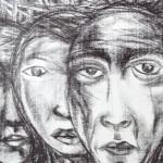 Gerrado Ingco, crayon on paper,43 x 56cm